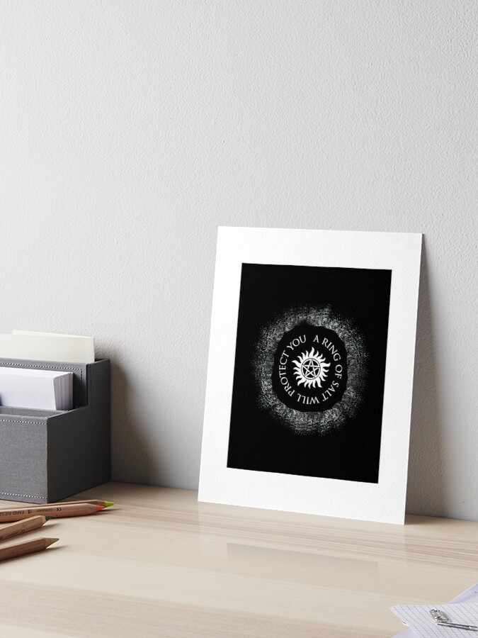 Supernatural - A Ring of Salt Will Protect You | Art Board Print