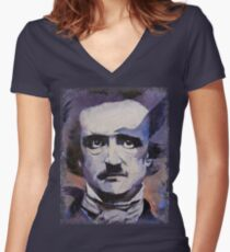 Edgar Allan Poe Women's Fitted V-Neck T-Shirt