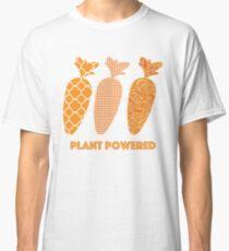 'Plant Powered' Carrot Design Vegan T-shirt Classic T-Shirt
