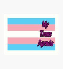 MY TRANS AGENDA Art Print