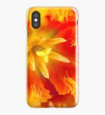 Orange Passion. Tulip Macro iPhone Case/Skin