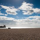 Brighton pier with blue skies by Kevin  Poulton