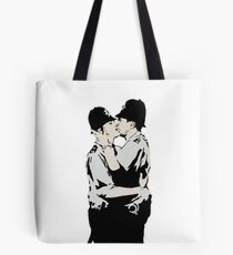 Kissing Coppers Tote Bag