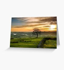 Sunset from The Roaches Greeting Card