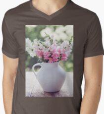 Snapdragon flowers Mens V-Neck T-Shirt