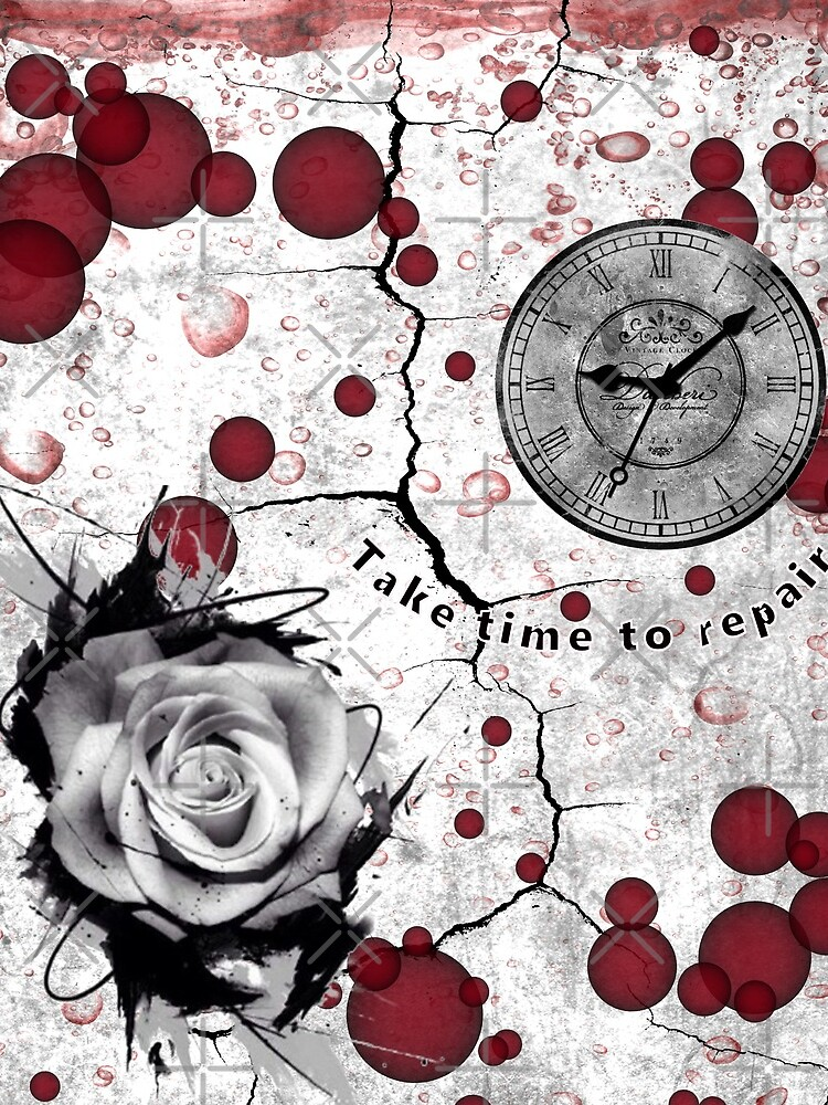Trash Polka No 12. Digital Collage  by TeAnne