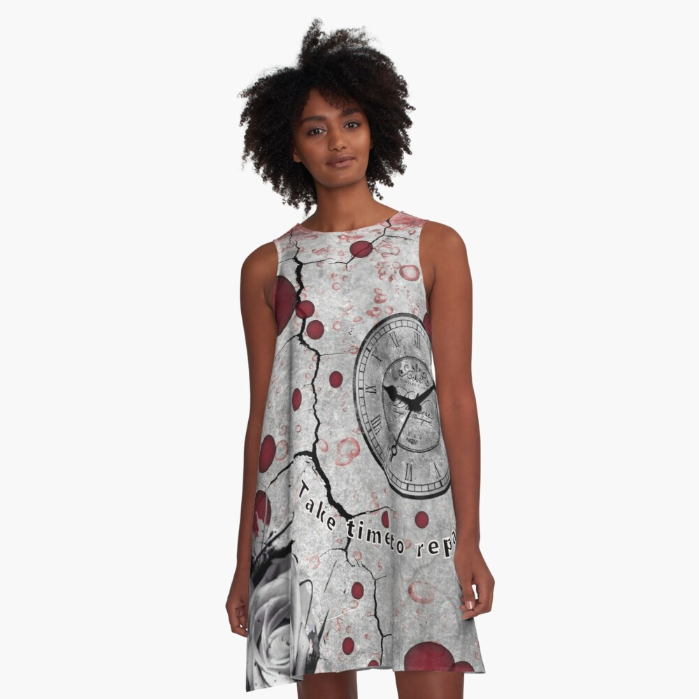 Trash Polka No 12. Digital Collage  A-Line Dress