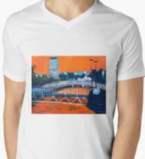 Liffey Bridges, Dublin Men's V-Neck T-Shirt