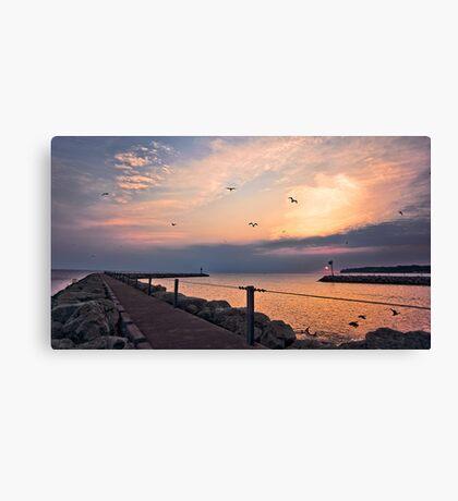 Irondequoit Bay channel Canvas Print