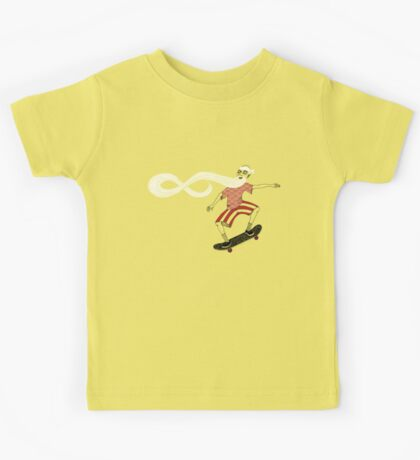 The Ancient Skater, Forever Skate ukiyo e style Kids Clothes