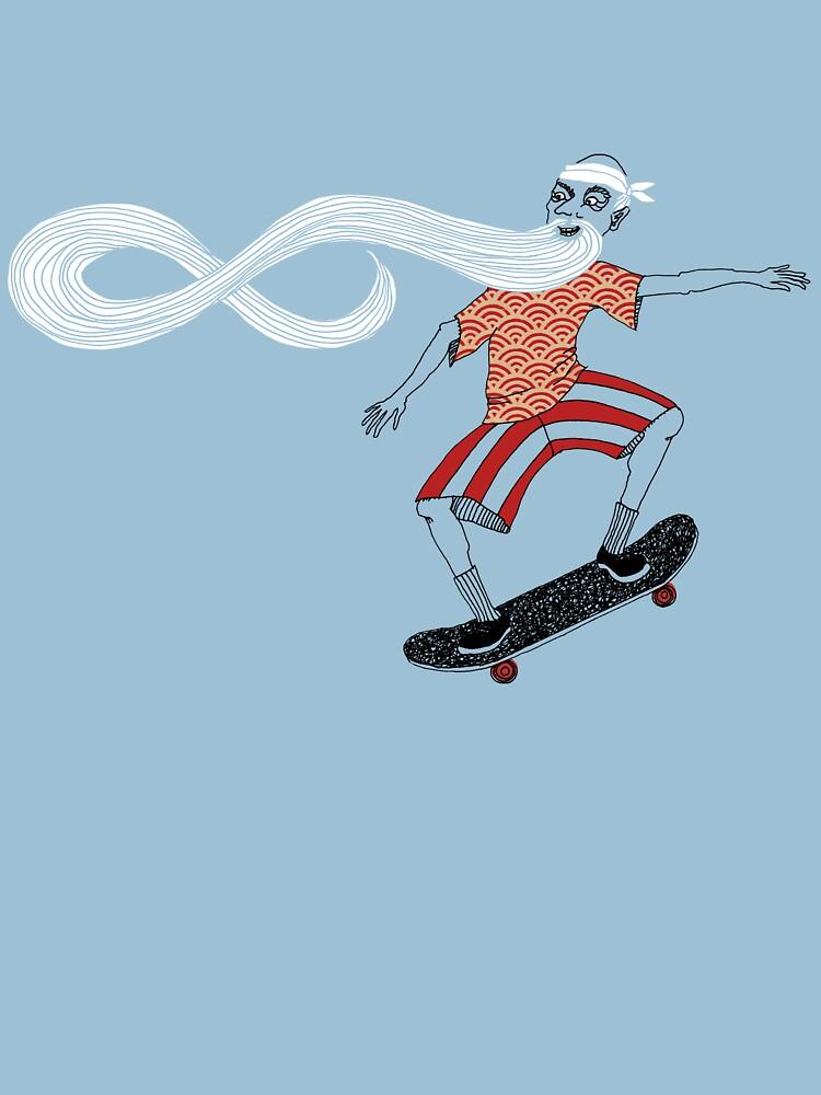 The Ancient Skater, Forever Skate ukiyo e style by SusanSanford