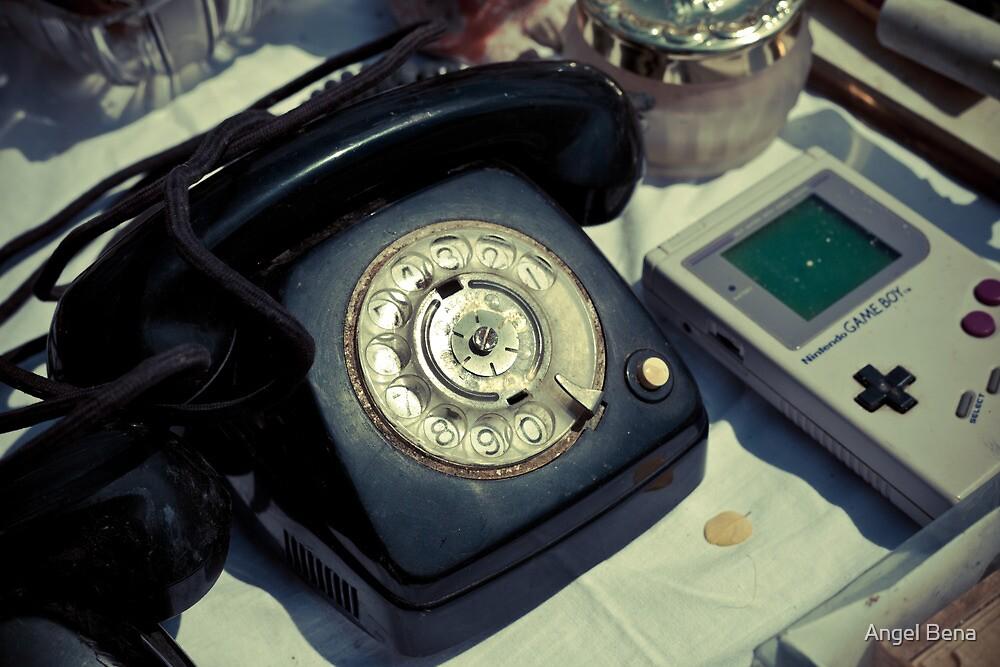 Vintage Phone & Game Boy by Angel Benavides