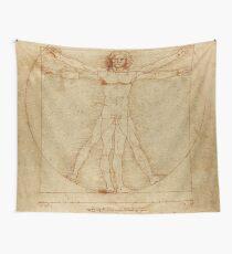 Leonardo Da Vincis vitruvianischer Mann Wandbehang