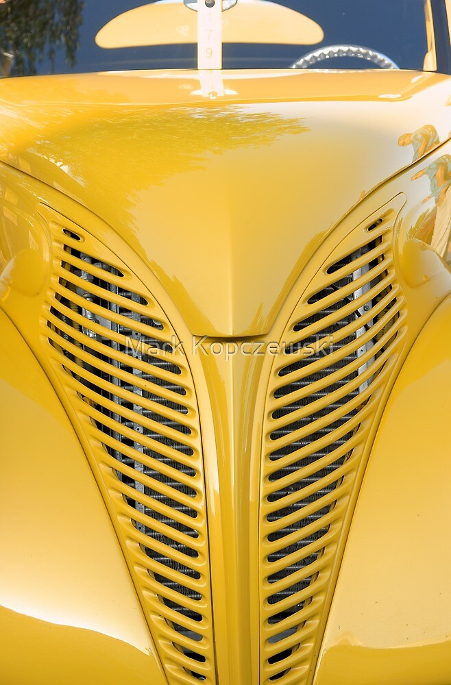 Yellow Custom Car Hood & Grille by Pirate77