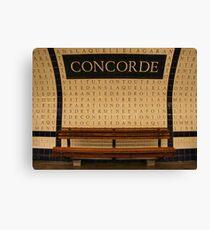 Le Metro - Concorde Canvas Print