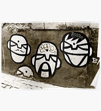 Street art faces Poster