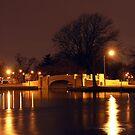 Two Bridges  On A Winter's Night by AlbertStewart