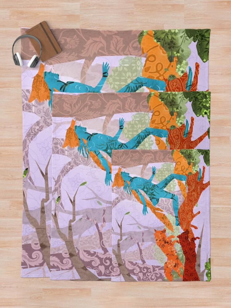 Alternate view of The Skulk Run Throw Blanket