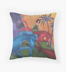 Dreaming when Dawn's Left Hand was in the Sky Throw Pillow