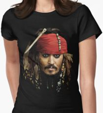 Captain Jack Sparrow Women's Fitted T-Shirt