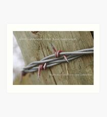Red Barbwire experience Art Print