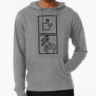 Push Button Receive Bacon Hand Dryer Bathroom Funny Hoodie Pullover