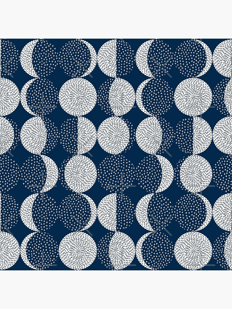 Moon Phases / repeat pattern by marketastengl