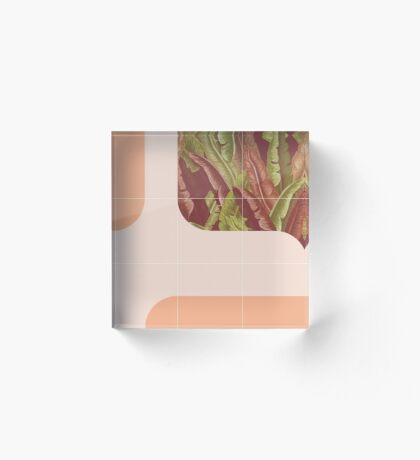 Mid-Century Tropical Way #redbubble #tropical Acrylic Block