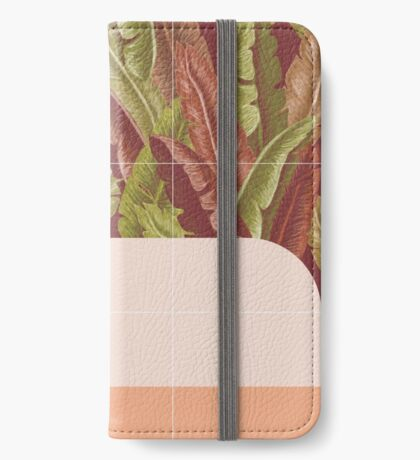 Mid-Century Tropical Way #redbubble #tropical iPhone Wallet