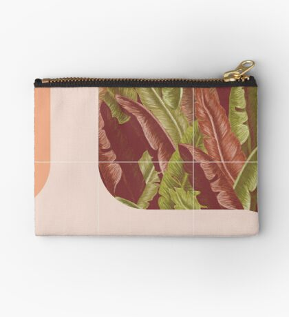 Mid-Century Tropical Way #redbubble #tropical Zipper Pouch
