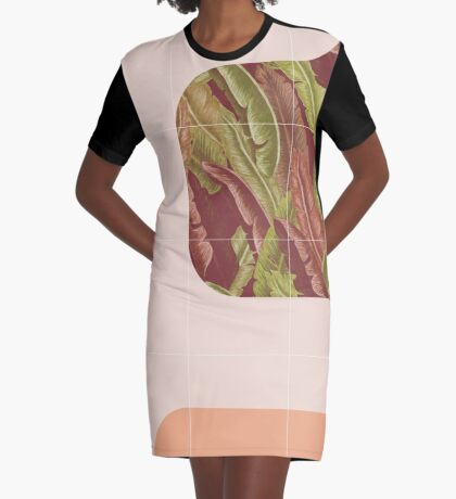 Mid-Century Tropical Way #redbubble #tropical Graphic T-Shirt Dress