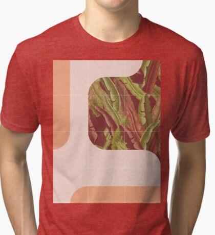 Mid-Century Tropical Way #redbubble #tropical Tri-blend T-Shirt