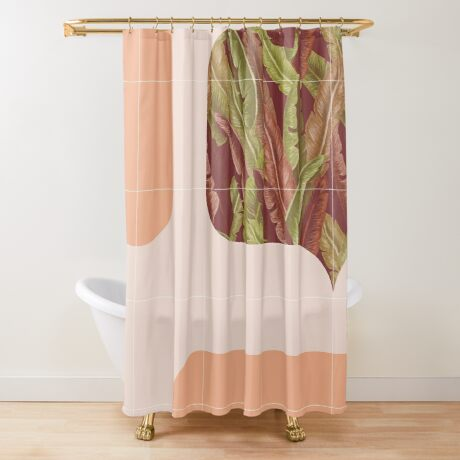 Mid-Century Tropical Way #redbubble #tropical Shower Curtain