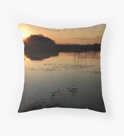 Okavango Delta Sunset - Botswana Throw Pillow