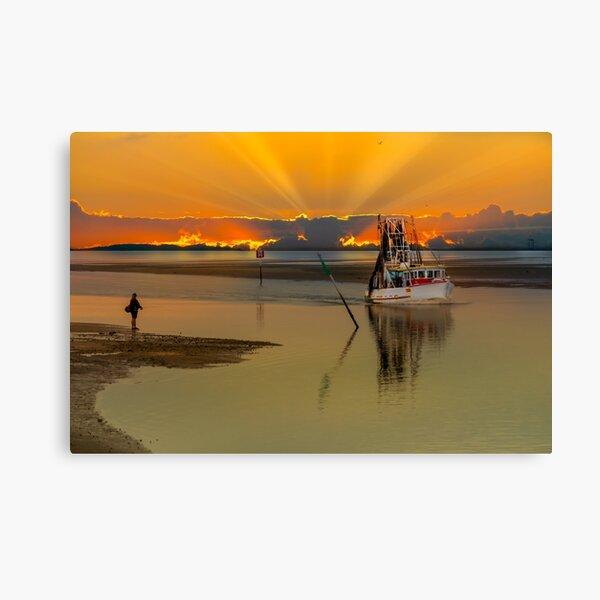 Trawler Returning Canvas Print