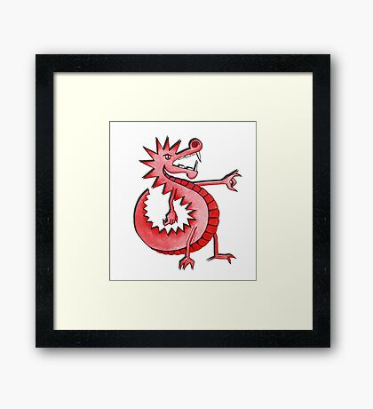 Cool Welsh Dragon Framed Print