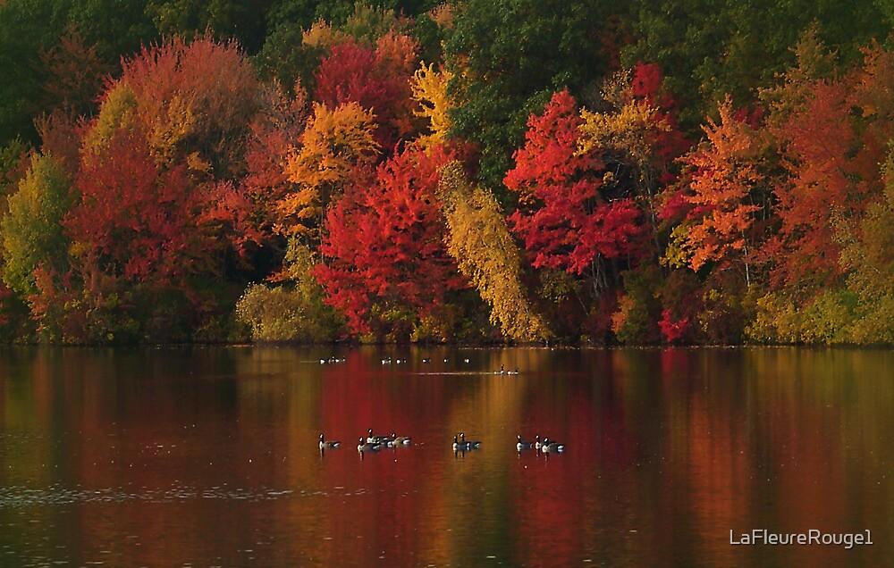 Red Autumn Dusk by LaFleureRouge1
