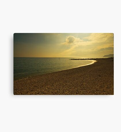 Sunsetting over West Bay Dorset Canvas Print