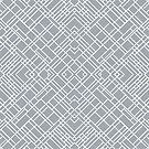 Map Outline 45 Grey Repeat by ProjectM
