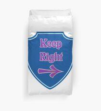 Bleibe rechts Bettbezug