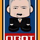 Deblasio'bot Politico'bot Toy Robot 2.0 by Carbon-Fibre Media