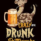 Savvy Turtle Crazy As A Drunk Rattlesnake by SavvyTurtle