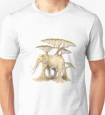 Natural Growth. Elephant, Eco, Ecology, Environment. Slim Fit T-Shirt