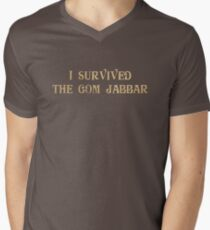 I Survived The Gom Jabbar Mens V-Neck T-Shirt