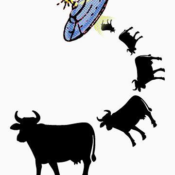 Cow Abduction by Babyfishbrain