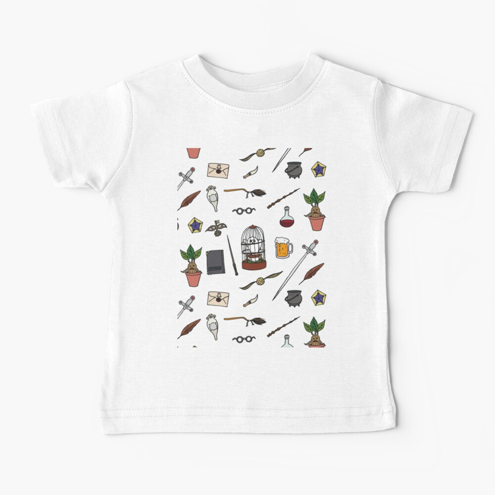 Owl and wand Baby T-Shirt