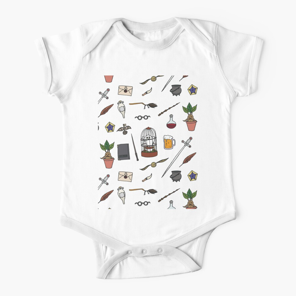 Owl and wand Baby One-Piece
