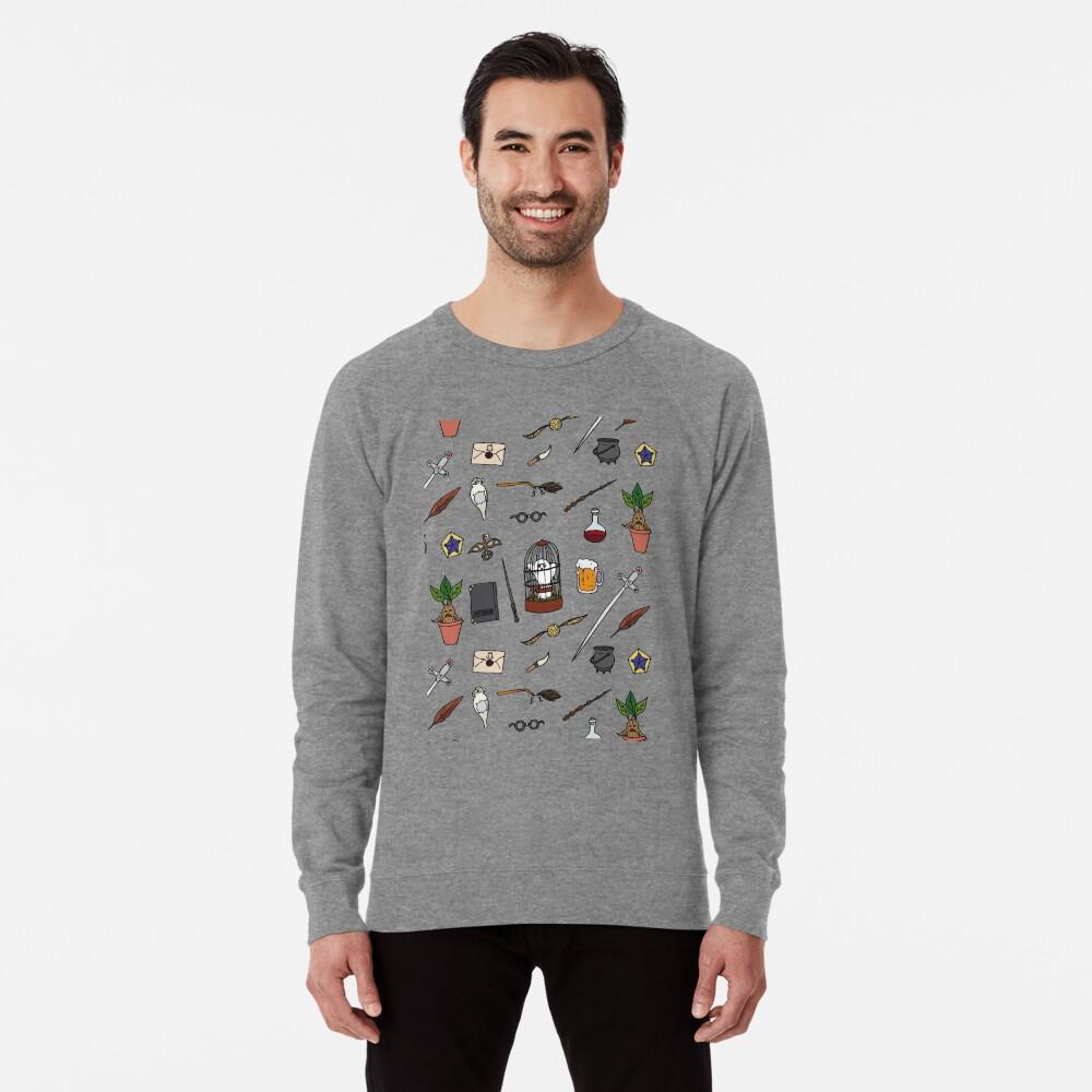 Owl and wand Lightweight Sweatshirt