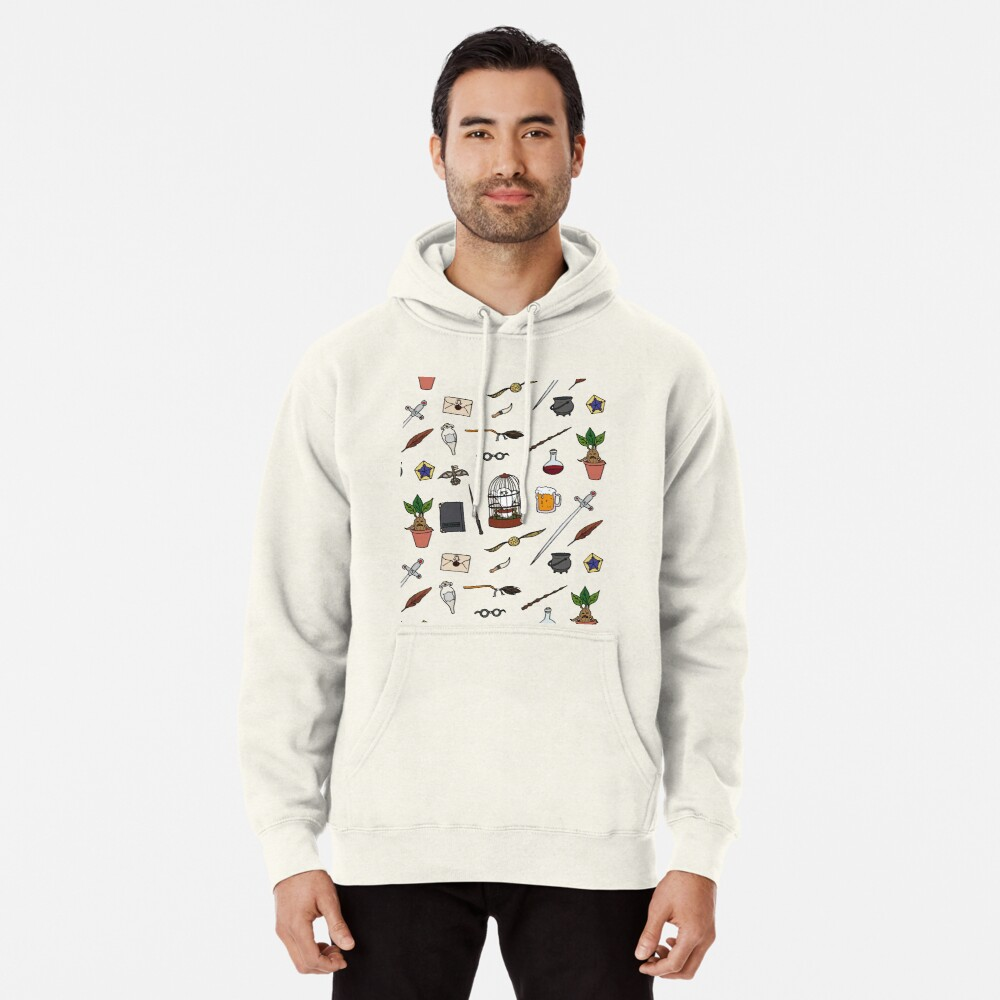 Owl and wand Pullover Hoodie