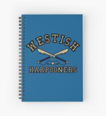 Westish Harpooners Spiral Notebook